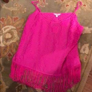 Lilly fringe top